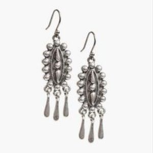 Lucky Brand Silver Tone BOHO Drop Earrings